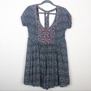 Free People | Tunic Dress with Cut Out Back